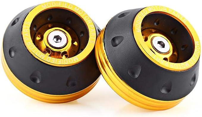 Cursore Telaio Forcella arancia CNC Anteriore in Alluminio Cursore Telaio Ruota Anteriore Motorino di Protezione Caduta Moto Ciclomotore