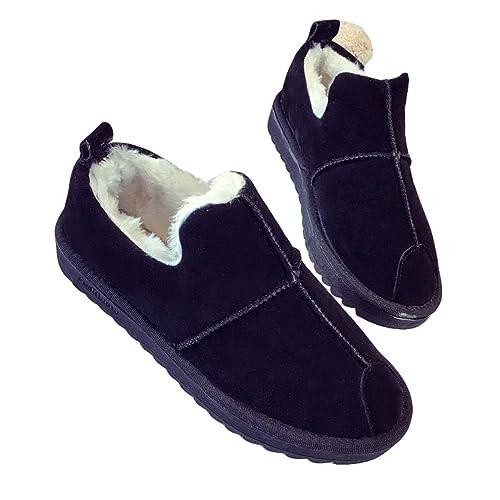 0ec7c9be1fff0 Botas de Nieve para Mujer Bajo Lana Piel Impermeable de la Nieve del  Invierno Zapatos Calientes Antideslizantes A Prueba de Viento EU35-EU40  Juqilu  ...