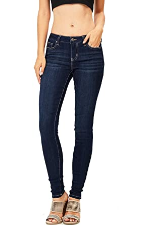 f9a12fd2f3f4dc Celebrity Pink Women's Juniors Mid Waist Stretchy Fitted Skinnys (3, Super  ...
