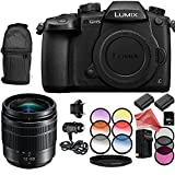 Panasonic Lumix DC-GH5 Mirrorless Digital Camera with Lumix G Vario 12-60mm f/3.5-5.6 ASPH. POWER O.I.S. Lens 10PC Accessory Bundle – Includes 64GB SD Memory Card + DigitalAndMore BUNDLE For Sale