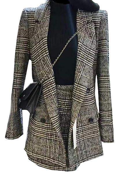 Amazon.com: XXBlosom Vestido de mujer y chaqueta delgada de ...