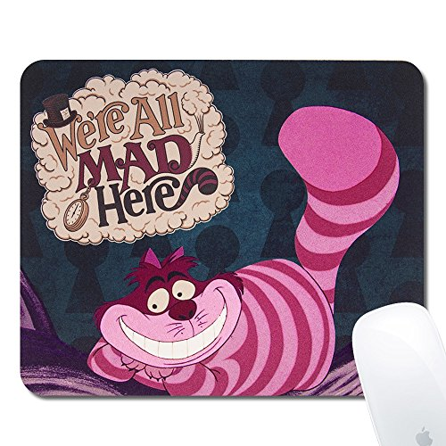 (Onelee Disney Alice in Wonderland Cheshire Cat Rectangular Mouse Pad - We're All Mad Here - Gaming Mouse Pad)