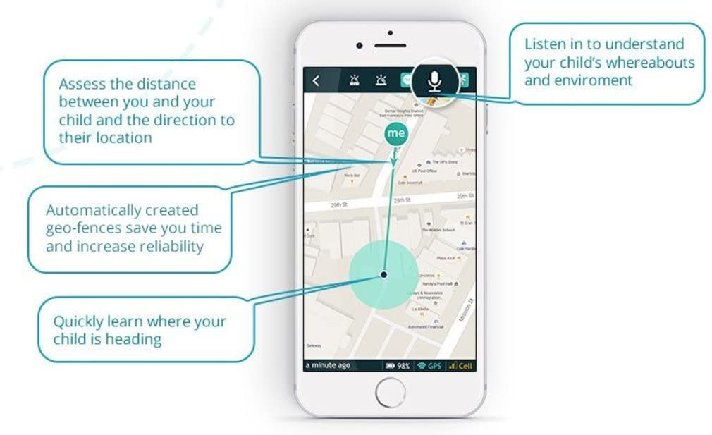 AngelSense GPS Tracker for Children with Special Needs, Location Alerts and Voice Monitoring, Compatible with Apple iOS and Android Devices, Includes ...