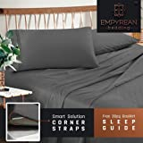 Premium Queen Sheets Set - Grey Charcoal (Gray) Hotel Luxury 4-Piece Bed Set, Extra Deep Pocket Special Super Fit Fitted Sheet, Best Quality Microfiber Linen Soft & Durable Design + Better Sleep Guide