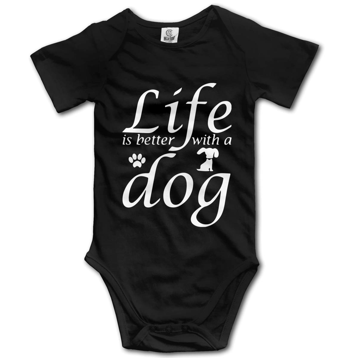 Life is Better with A Dog Kids Girl Boy 100/% Organic Cotton Rompers Costume Jumpsuit 0-24 Months
