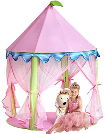 0a4453f5ba55 Sonyabecca Girls Play Tent&Princess Castle Portable Playhouse, Pink Pop up  tent for Kids Indoor/