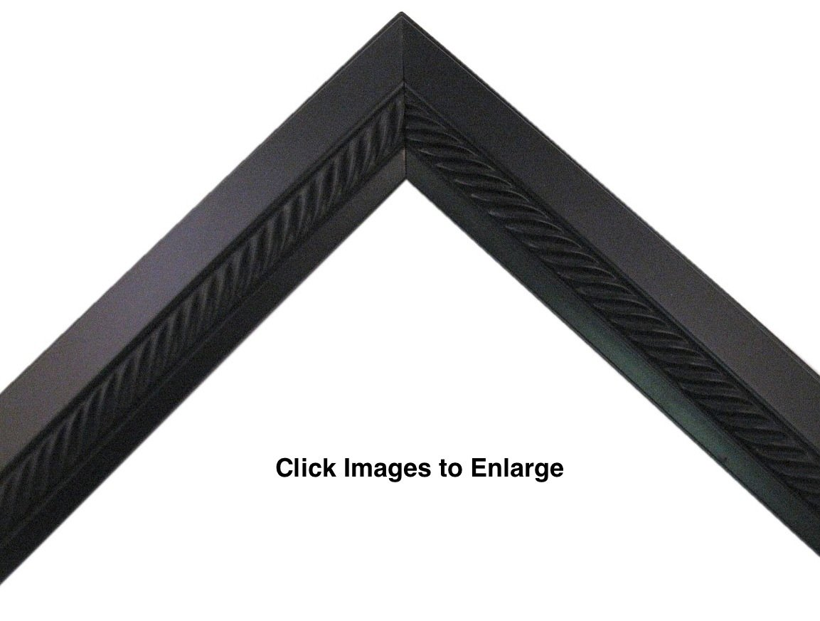 Black with Braided Center Picture Frame Great for 3/4' Canvas, (Different Sizes) (8x10') (Different Sizes) (8x10) sunbelt mfg. co