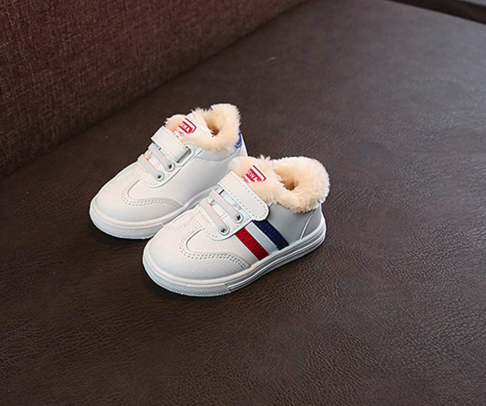Lurryly❤2019 Kids Warm Shoes for Girls Boys Striped Sneaker Children Sport Running Shoe 1-6 T
