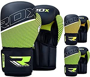 RDX Boxing Gloves Maya Hide Leather Punching Bag Glove Sparring Training Mitts Muay Thai F6