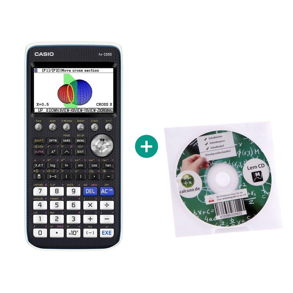 Casio FX CG 20 Taschenrechner Grafikrechner Schutztasche und Lern-CD