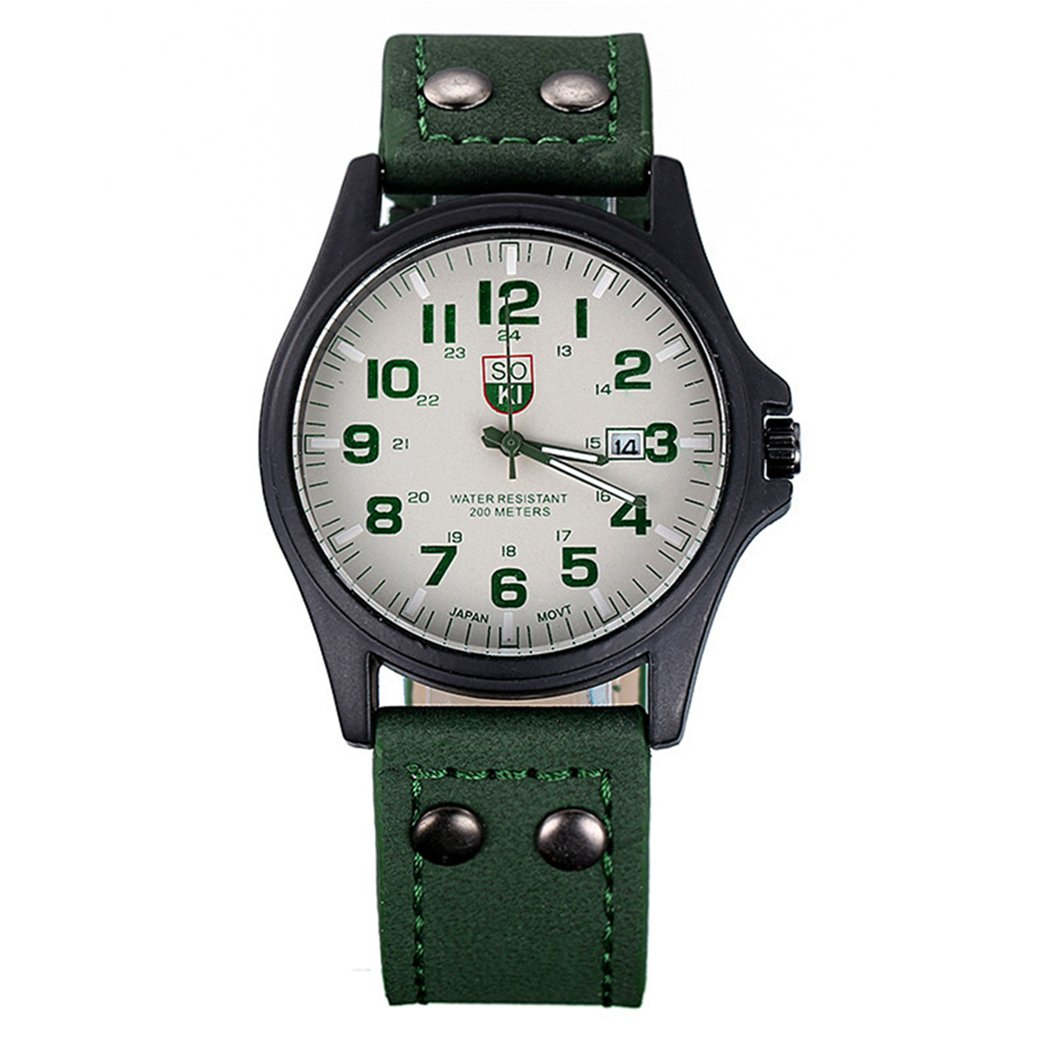 Amazon.com: Mens Quartz Watch,COOKI Unique Analog Business Casual Fashion Wristwatch,Clearance Cheap Watches with Classic Calendar Date Window,Round Dial ...