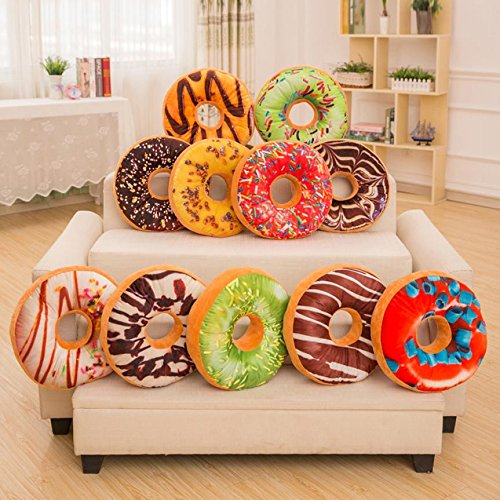 Clearance Sale! Pillow Cases Sweet Donut Foods Soft Plush Stuffed Seat Pad Sofa Car Waist Throw Cushion Cover Toys 40cm by TAGGMY (Image #2)