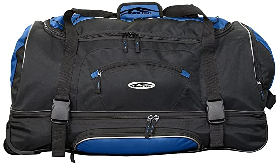 NEW Outdoor Gear Sac fourre-tout à roulettes valise chariot à bagages Sac de voyage XL 86,4cm cm Noir Olive X-Large 34