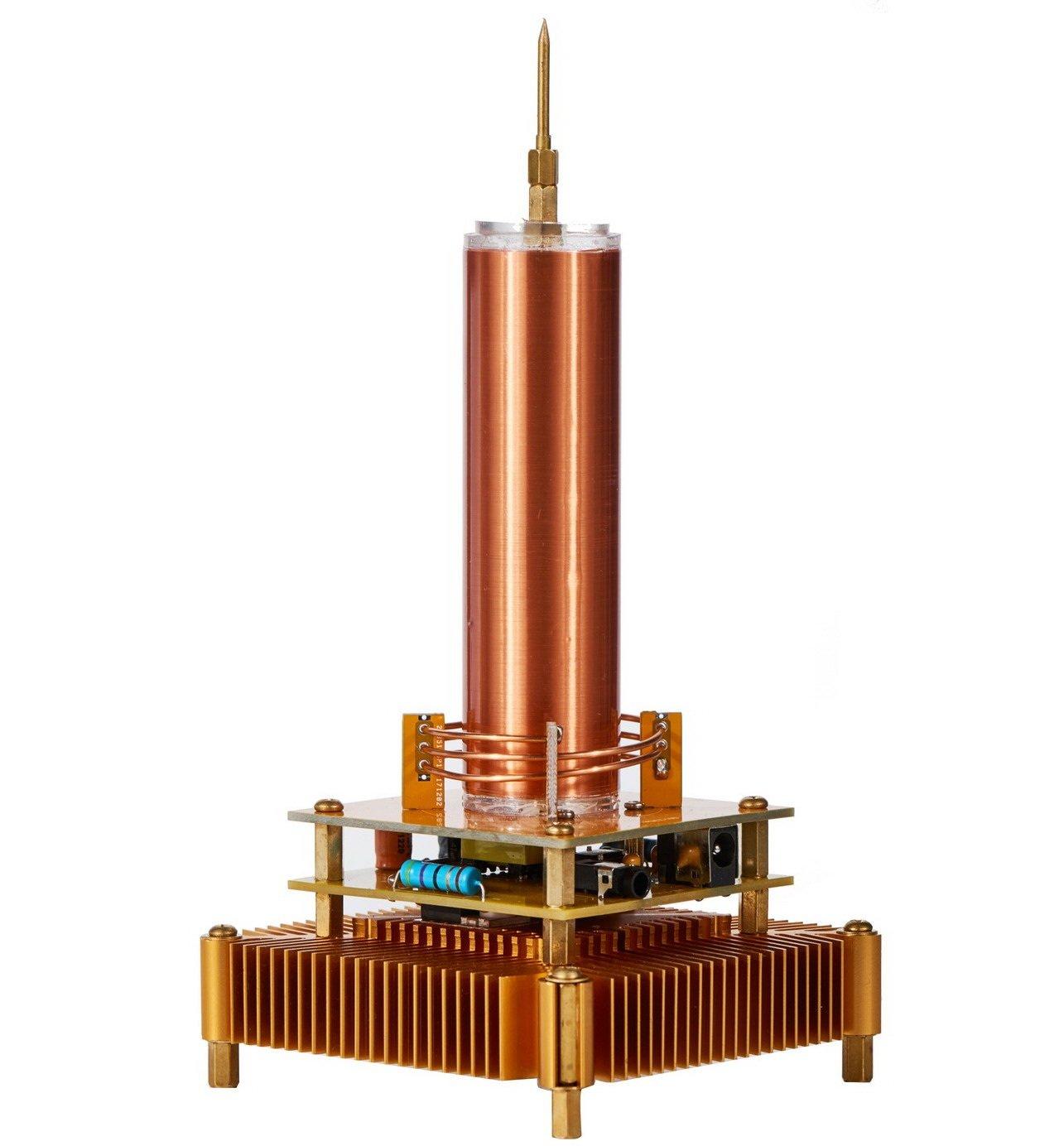 Joytech Music Tesla Coil Acrylic Base Shell Arc Plasma Loudspeaker Wireless Transmission Experiment Desktop Toy Model (YS01) by Joytech (Image #1)