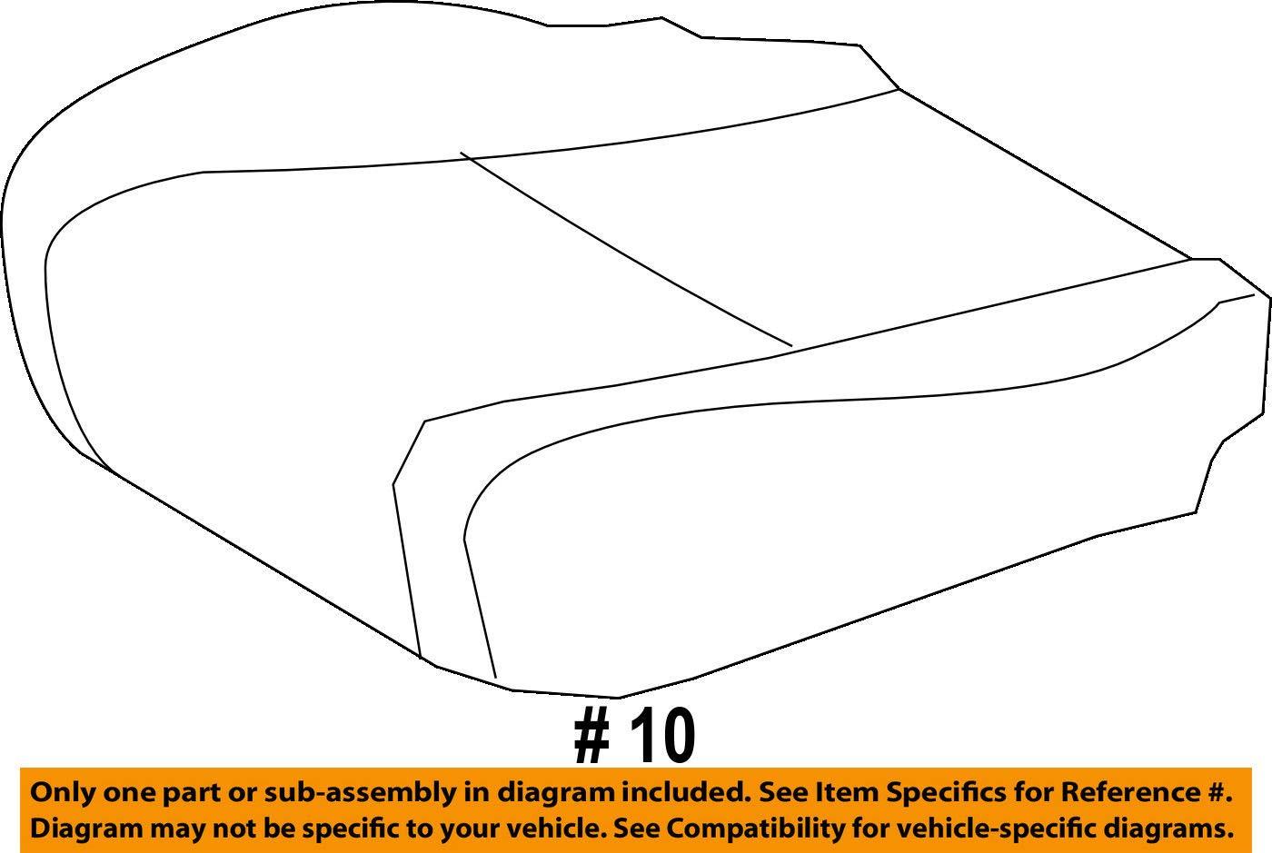 TOYOTA Genuine 71072-0E160-E0 Seat Cushion Cover