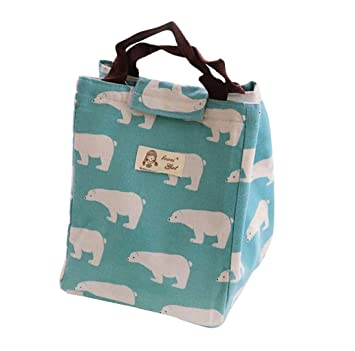 7f66bbe89f44 Fheaven Thermal Insulated Canvas Aluminum Cute Animals Lunch Box ...