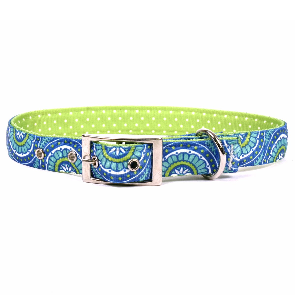 Medium 19\ Yellow Dog Design Radiance bluee Uptown Dog Collar, Medium-1  wide and fits neck sizes 15 to 18.5