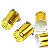 Refaxi 5 Pcs Aluminum Alloy Gold Tone Bullet ABXY