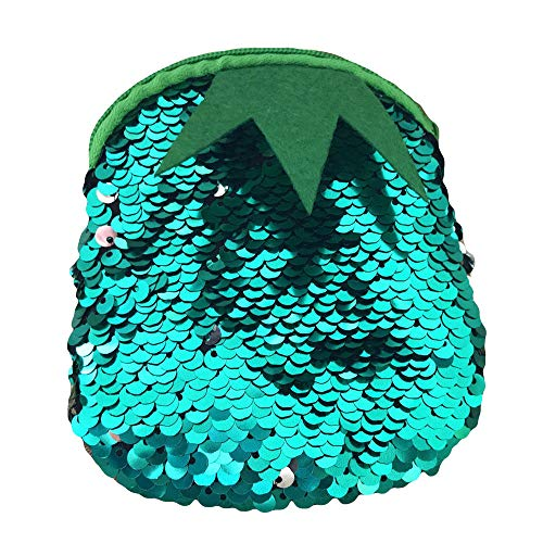 Green Sequins Mini Women Color Purse Pouch Bag Girls ouble Wallet Voberry Fashion Ladies Coin qO1WSwSf