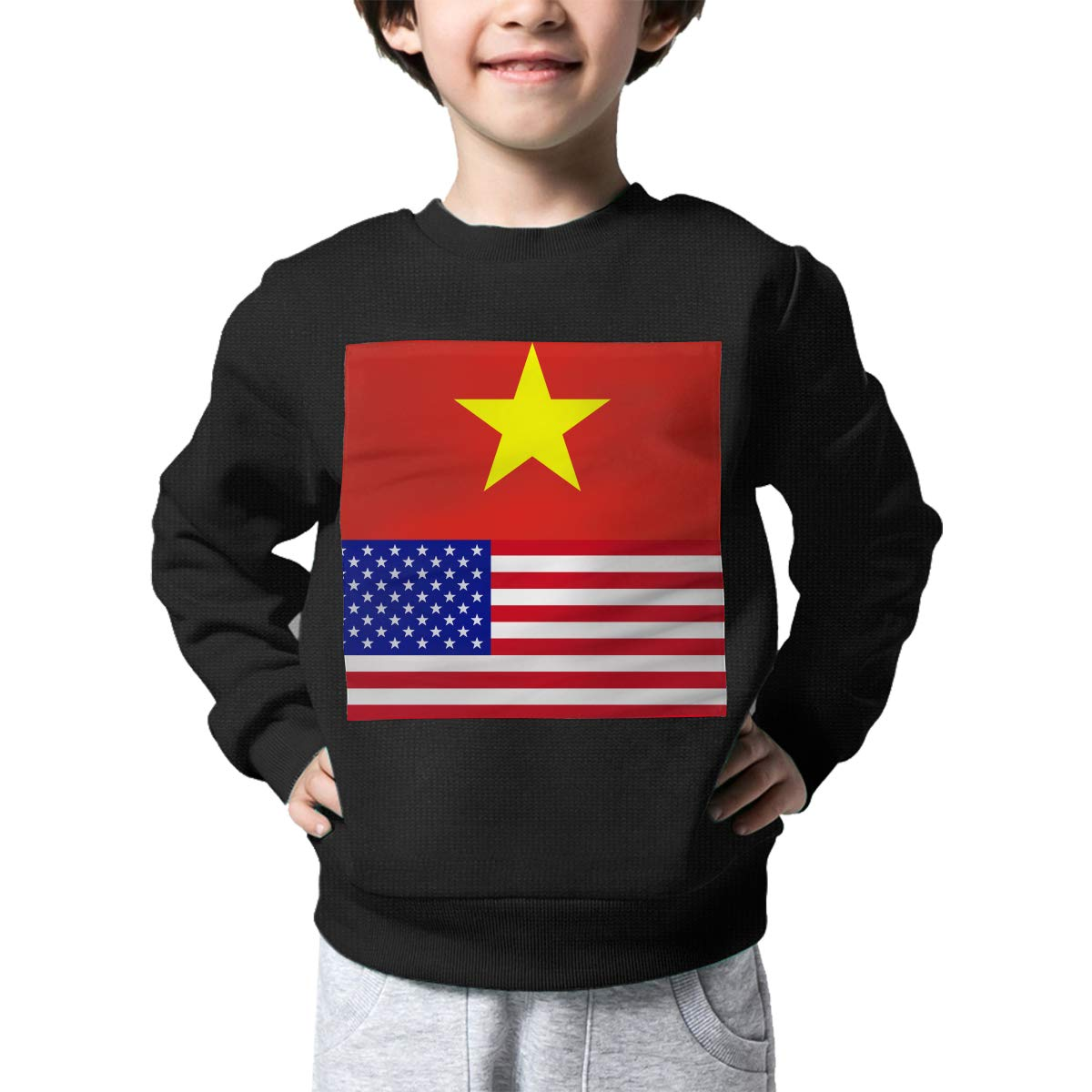 NJKM5MJ Boys Girls Vietnam-American Proud Lovely Sweaters Soft Warm Childrens Sweater