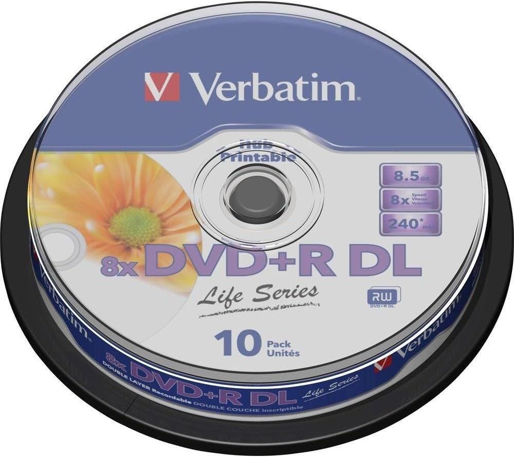 Verbatim 8.5GB DVD+R DL - DVD+RW vírgenes (DVD+R DL, Caja para ...