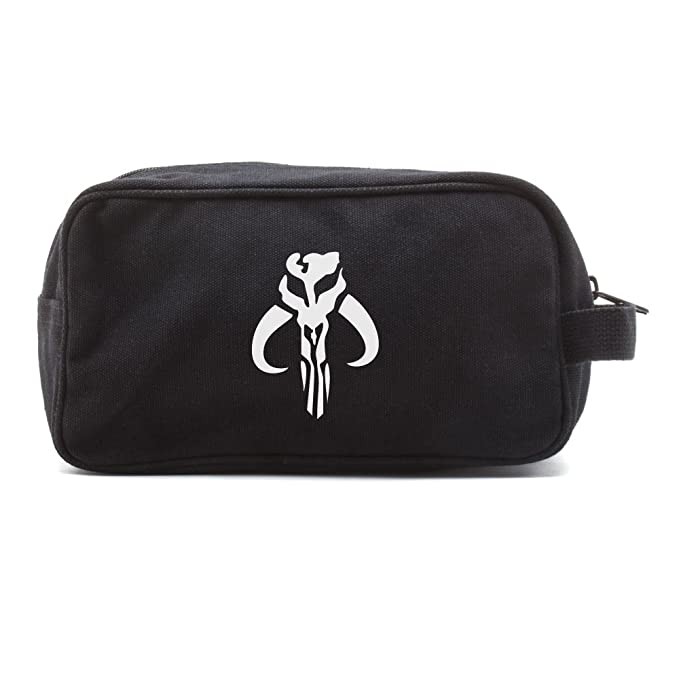 f5db48962 Star Wars Mandalorian Skull Boba Travel Toiletry Bag Case, Black With with  CAR DECAL