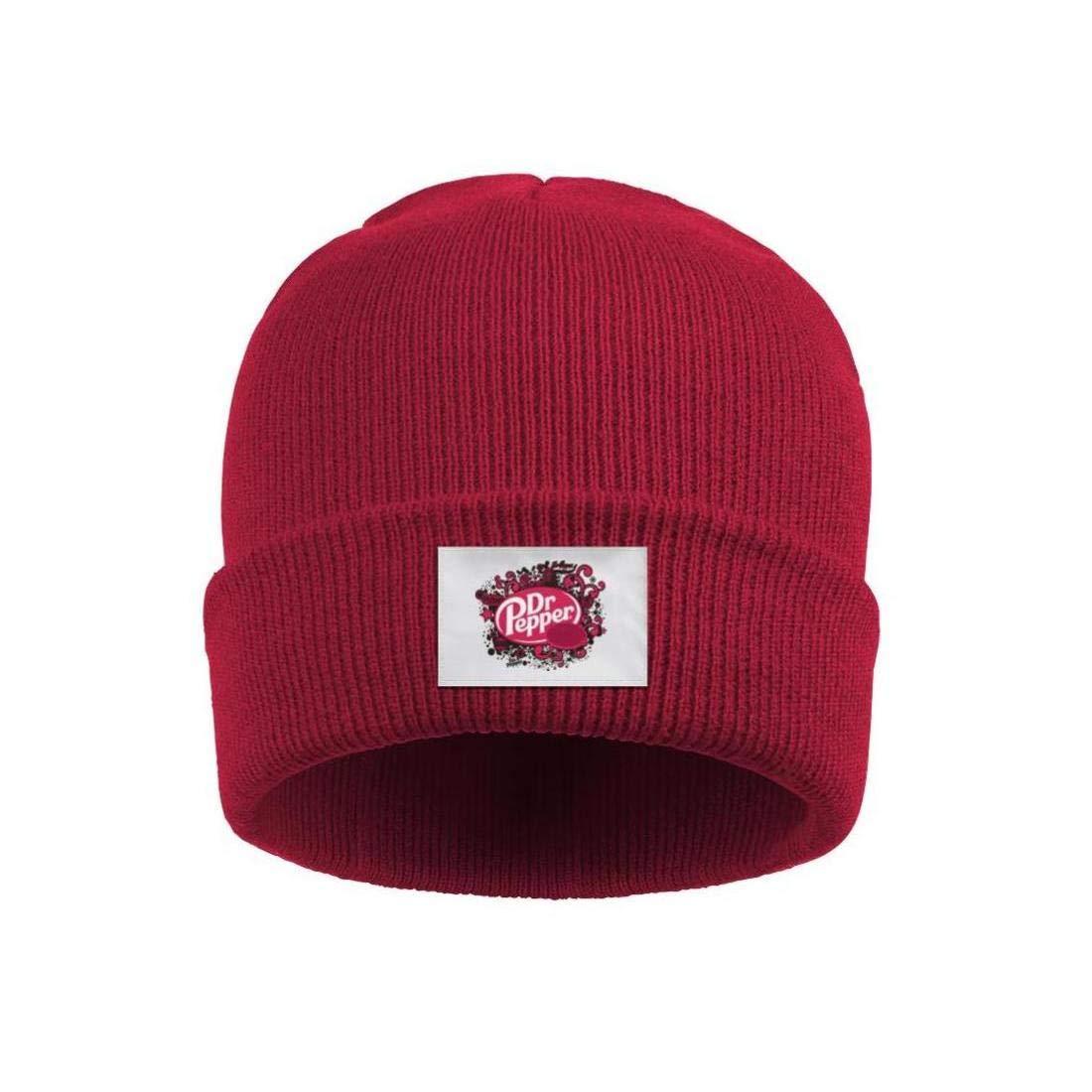 Curling Beanie Fleece Lined Cap Girls Ribbed Dr-Pepper-logo-30