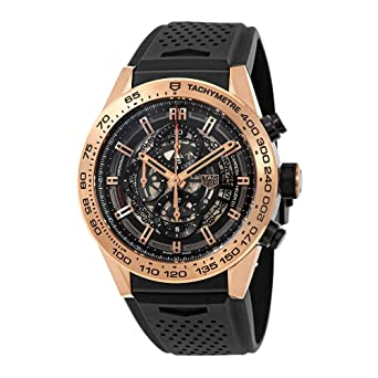 1d0b0de88cd Image Unavailable. Image not available for. Color  TAG Heuer Carrera  Calibre Heuer 01 Rose Gold 45 mm Mens ...