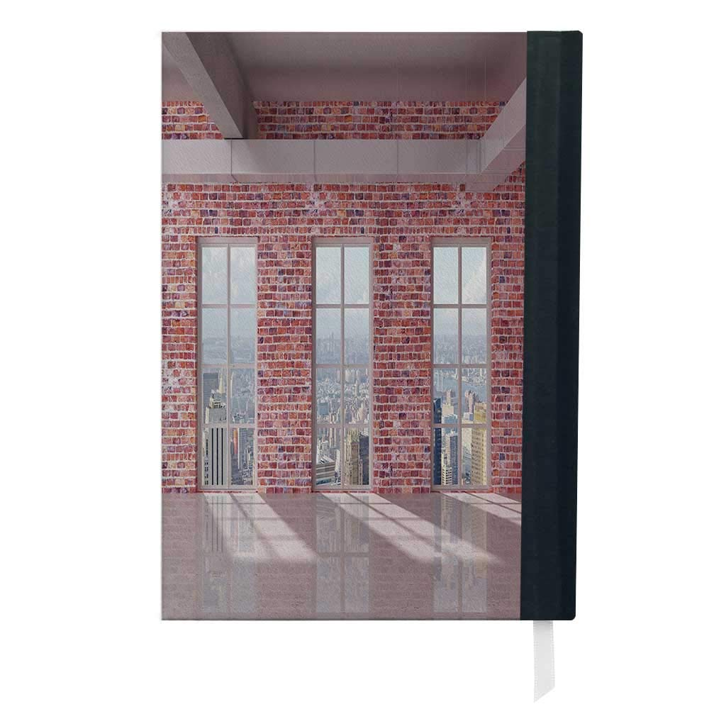 Amazon Com Modern Decor Red Brick Wall Loft Interior With Windows