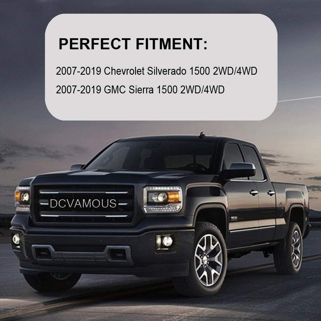 Compatible with 1999-2020 Silverado//Sierra 1500 2WD 4WD Raise Vehicle 1 Inch DCVAMOUS Leveling Lift Kit for Chevy GMC Silverado 1 Rear Lift Blocks Kit