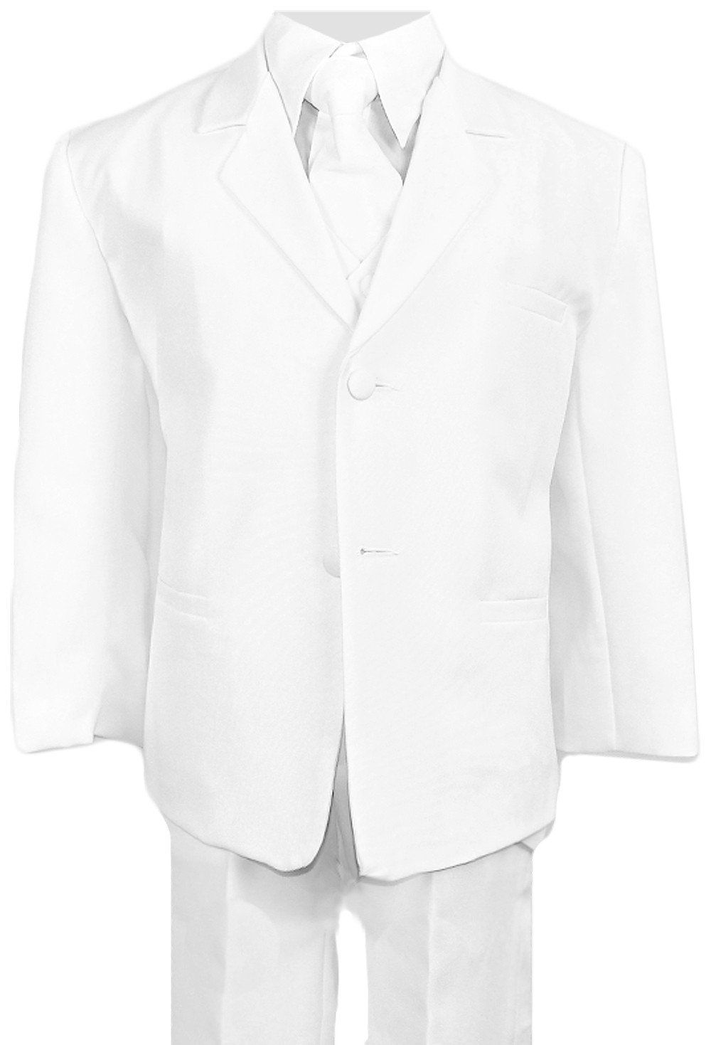 Boys Suits in White Complete Outfit Set Size 5