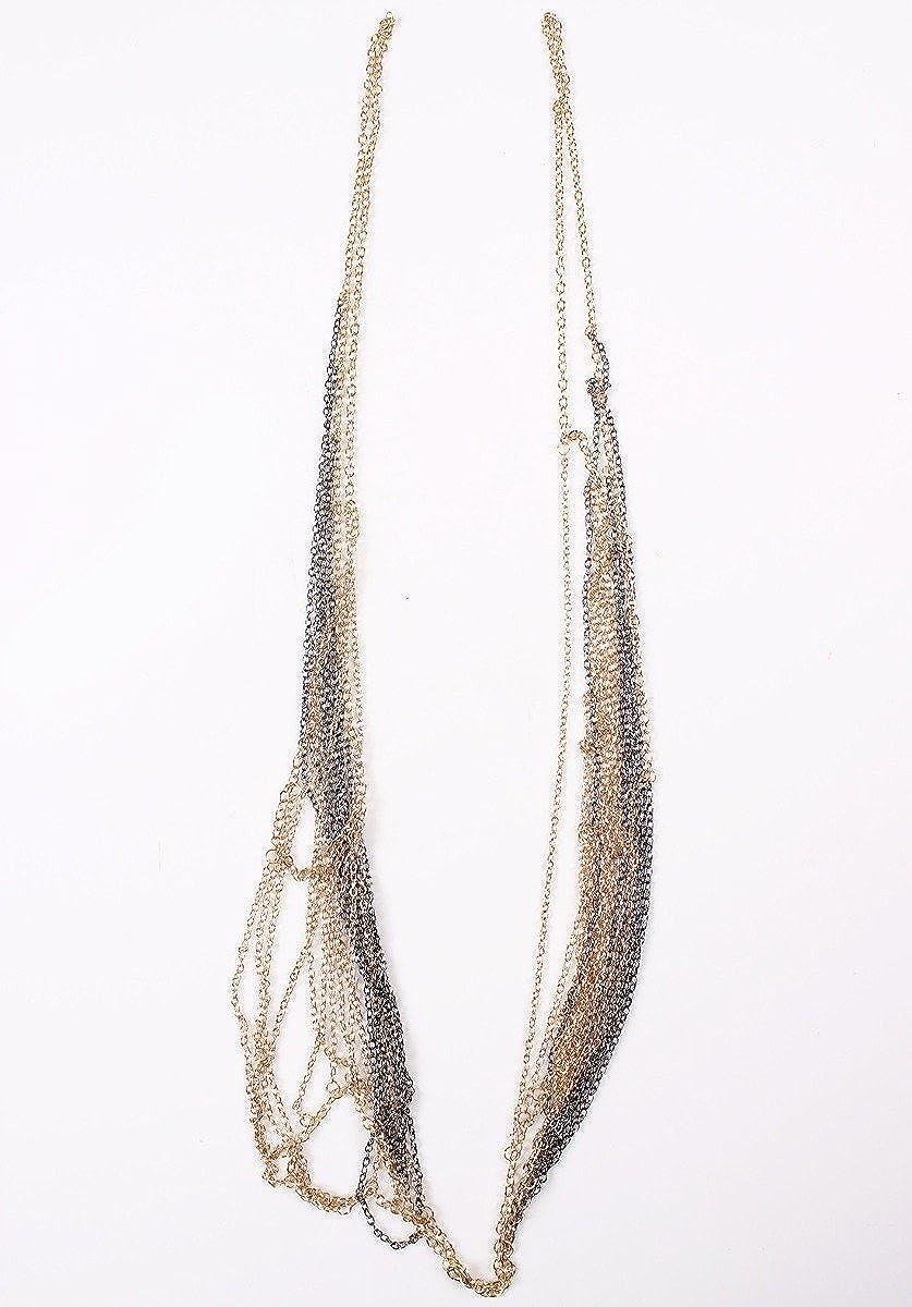 Luxury Gold Necklace Fake Collar Shoulder Body Jewelry Chains Bijoux Piercing QIYUN.Z W005C0012