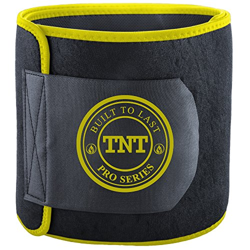TNT Pro Series Waist Trimmer Weight Loss Ab Belt – Premium Stomach Wrap and Waist Trainer
