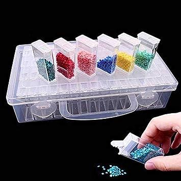 25c9af16f Pawaca - Caja de almacenaje para Manualidades (64 Compartimentos), diseño  de Diamantes, Transparente: Amazon.es: Hogar