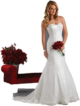 Off The Shoulder Women S Lace Mermaid Bridal Wedding Dresses Lace