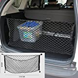 9 MOON Vehicle Trunk Mesh Cargo Net - Black Premium Quality Universal Fit Cargo Storage Organizer with 3 Mounting Options