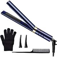 2 en 1 Fer à Lisser avec fonction de bigoudi, Lisseur Cheveux Professionnel, 120 ° C à 230 ° C, Cordon d'alimentation rotatif à 360 °