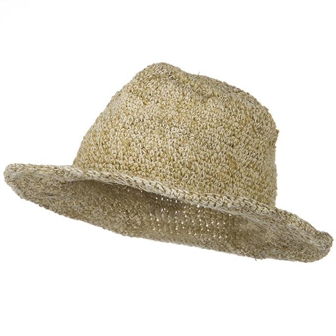 836fe853 Large Hemp Cotton Brim Hat - Natural Plain OSFM: Amazon.ca: Jewelry