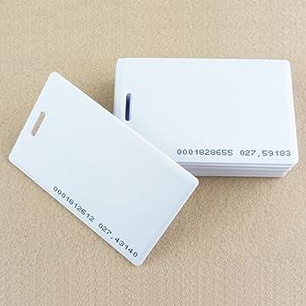 HFeng Tarjeta en blanco densa de 125KHz RFID 1.8mm blanco ...