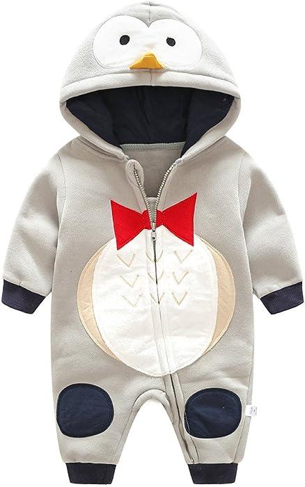720f5f4a0205f Unisexe Bébé Barboteuse Pyjama en Coton pour Enfants pour Filles garçon  Pyjama Animal Doux et Confortable