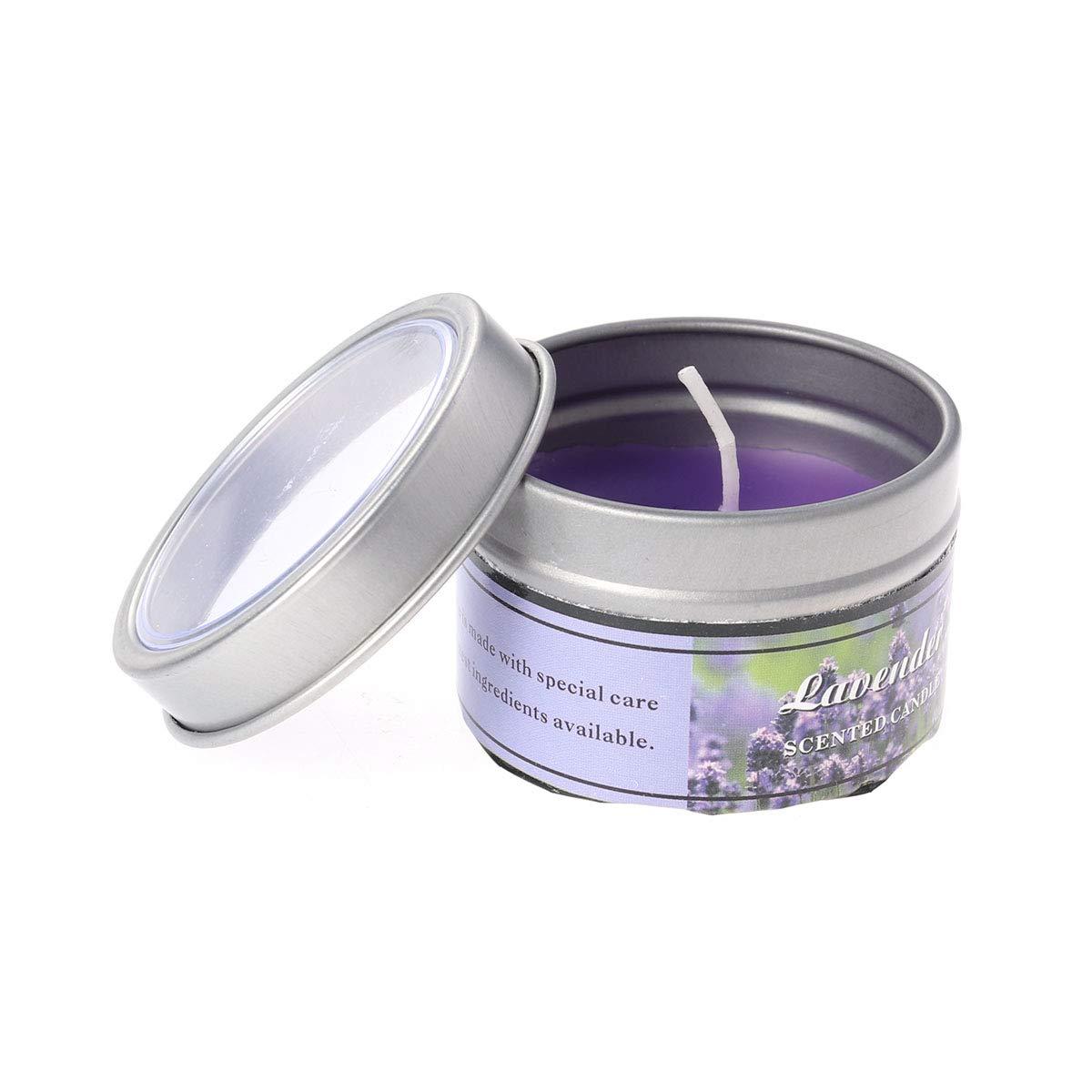 Frcolor Velas Naturales de Aromaterapia con Aceites Esenciales de Cera de Soja Flores Lavanda