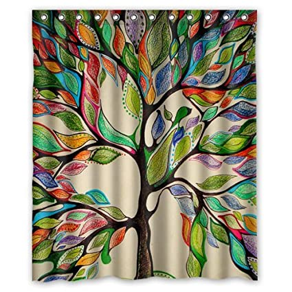 Custom Popular Shower Curtains Watercolor Tree Of Life 60quot X 72quotInch
