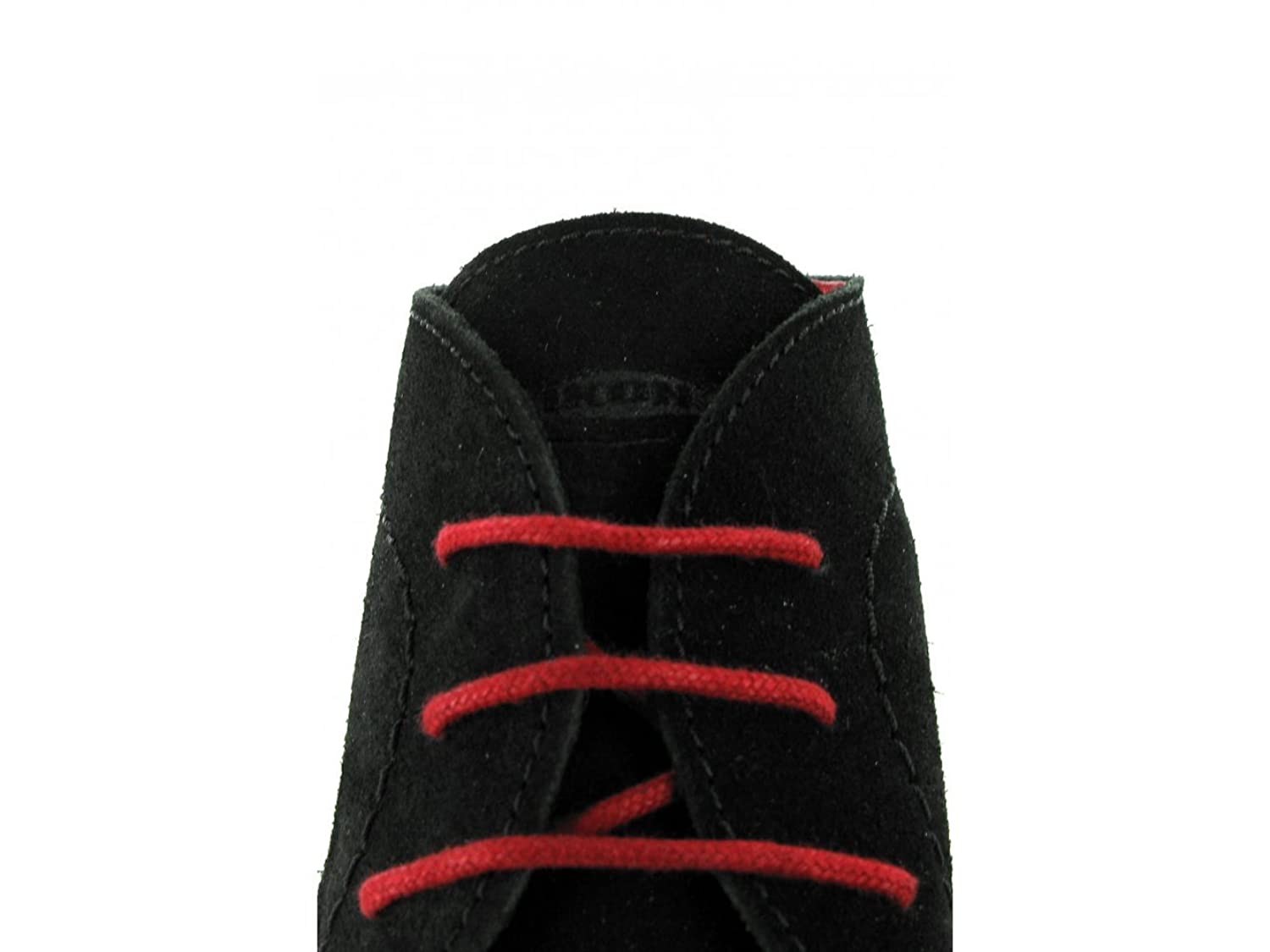 Ikon NOMAD Mens 3 Eyelet Suede Desert Boots Black And Red: Amazon.co.uk:  Shoes & Bags