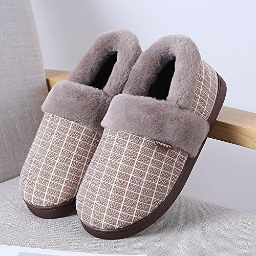Inverno fankou giovane home Mao Wo caldo cotone pantofole una coppia di HL-3378,42 / 43 (per 41/42 cantieri di usura), marrone