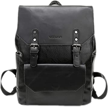 Simple Patchwork Large Capacity Mens Leather Backpack For Travel Casual Men Daypacks Leather Travle Backpack