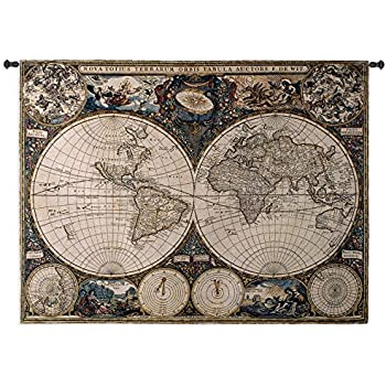 Amazon fine art tapestries old world map wall tapestry fine art tapestries old world map wall tapestry gumiabroncs Gallery