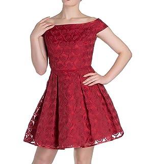 Hell Bunny 50s Pin up Party Mini Dress Paris Bardot Red