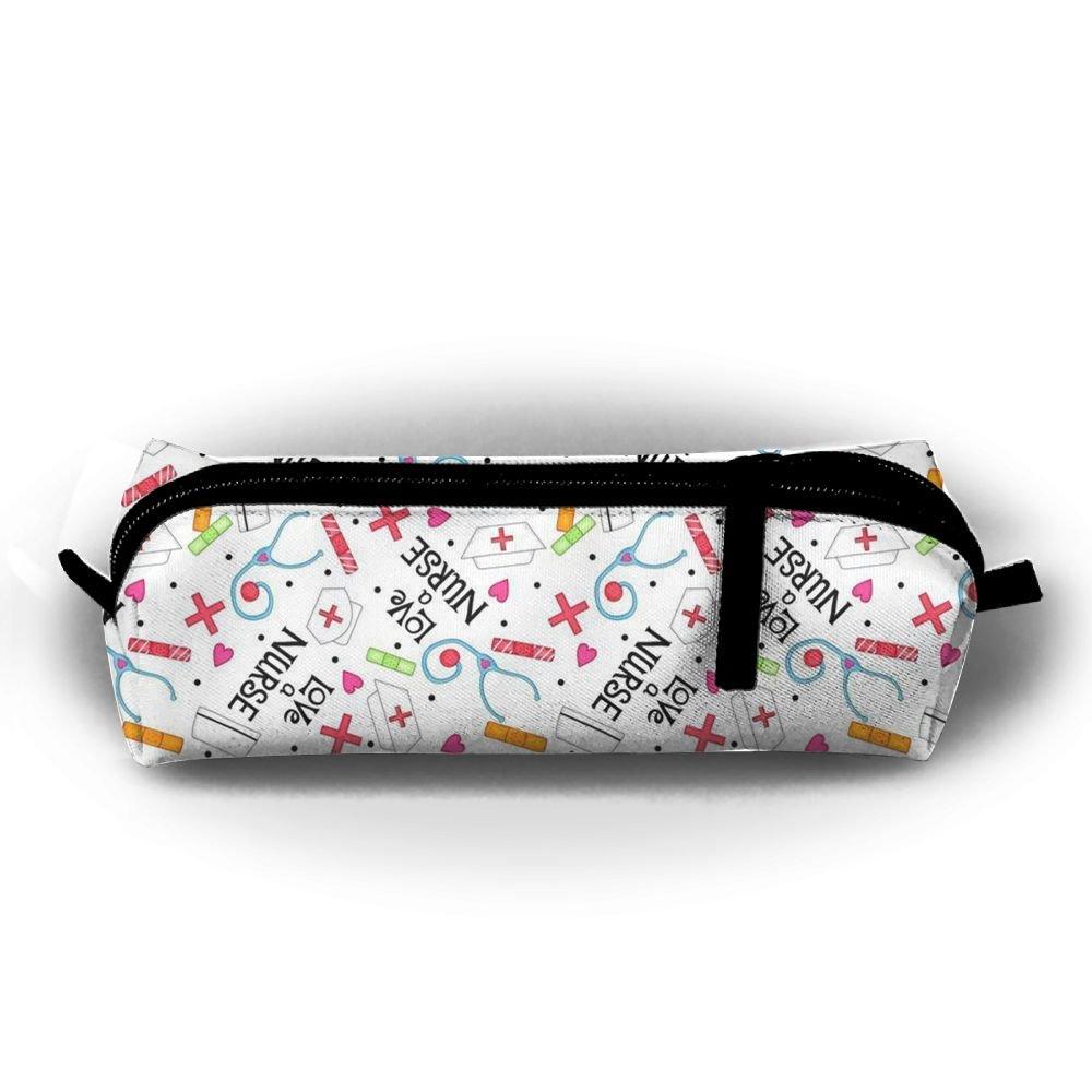f488acb26880 Amazon.com: Love A Nurse Whimsy White Portable Stylish Pen Bag ...