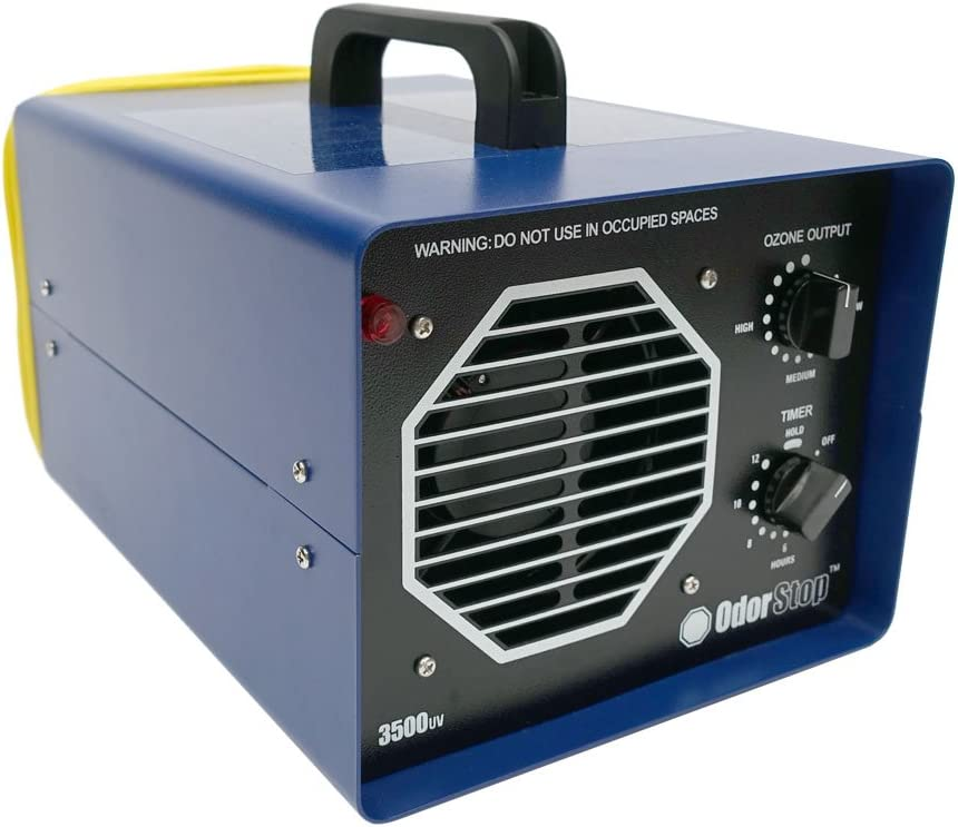 OdorStop OS3500UV - Ozone Generator for Areas of 3500 Square Feet+, For Deodorizing and Sanitizing Medium to Large Spaces Such as Homes and Offices (3500 sq ft + UV)