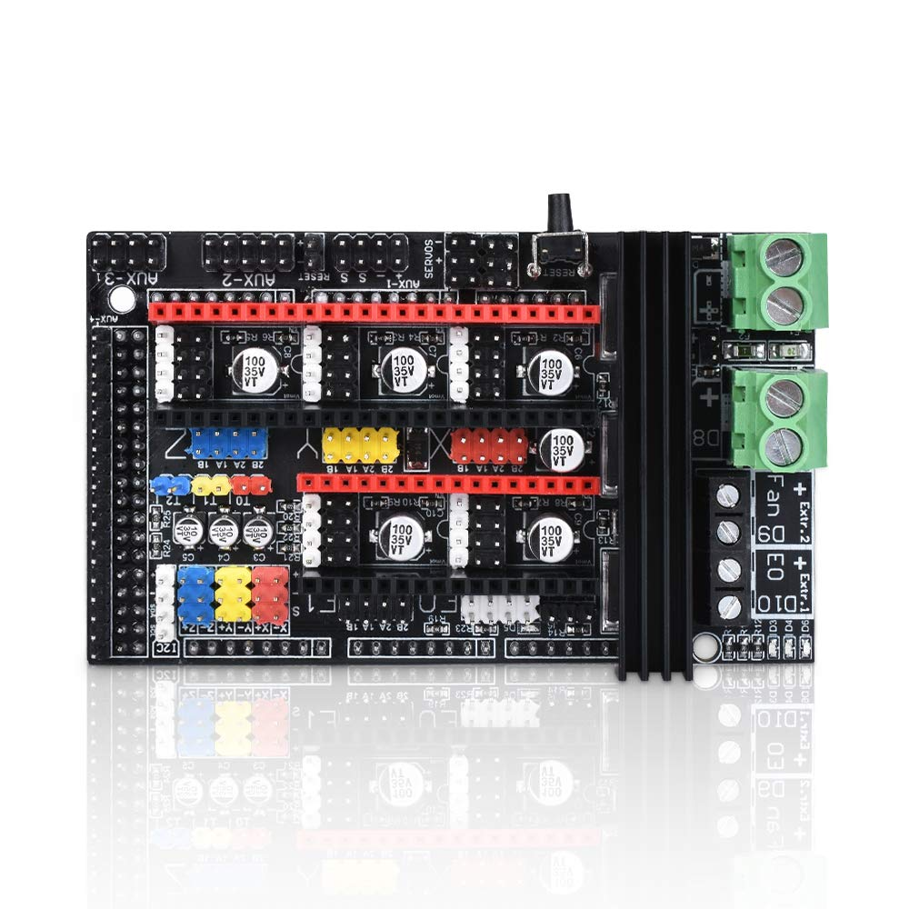 PoPprint Ramps 1.6 Plus Open source Expansion Control Board Upgraded Ramps 1.4 Motherboard Support A4988 DRV8825 TMC2130 Driver Reprap Mendel for 3D Printer Parts WitBot